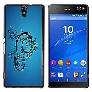 Caucho caso de Shell duro de la cubierta de accesorios de protección BY RAYDREAMMM - Sony Xperia C5 Ultra - Imágenes abstractas en azul