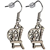 Cedar Creek Quilt Designs FWE22-300 Craft Supplies Charming Accents French Wire Earrings-Spinning Wheel