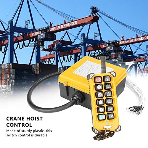 Crane Chain Hoist Push Button Switch 1 Transmitters + 1 Receiver Hoist Crane Wireless Remote Controller 12 Buttons by Wal front (Image #1)