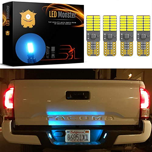 (LED Monster 4x 168 194 T10 24-SMD LED Canbus Ready Bulbs Car License Plate Lights Lamp Ice Blue)