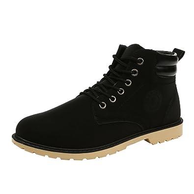 MAYOGO Stiefeletten Herren Hoch-top Wandern Stiefel,Einfarbig Wildleder  Wanderschuhe Combat Boots Outdoor Boots 735f835a95