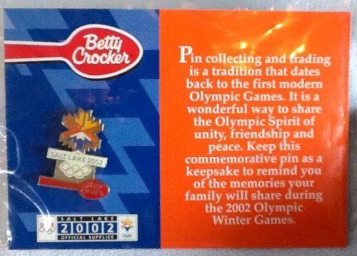 Winter Olympic Pin - 2002 Olympic Winter Games, Betty Crocker, Commemorative, Collectible Pin,