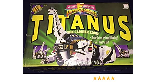Mighty Morphin Power Rangers Titanus the Motorized Carrier Zord BanDai MMPR