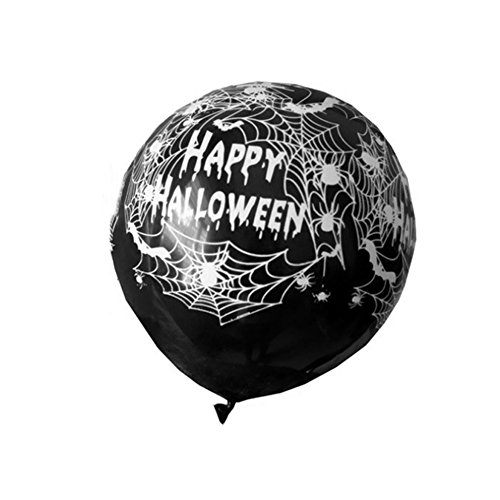 ZCON 10Pcs 12 Inch Pumpkin Spiderweb Balloons for Halloween Decoration Party Supplies - Black -