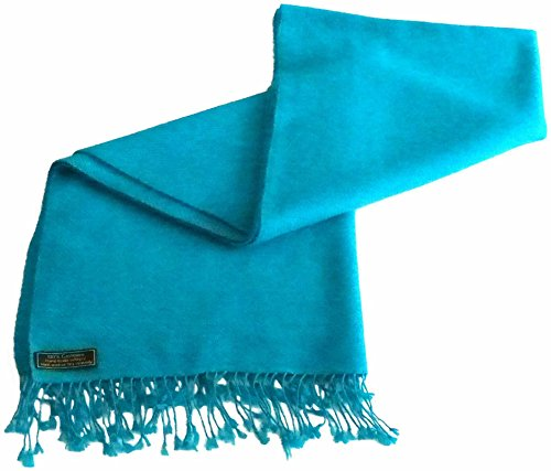 Turquoise High Grade 100% Cashmere Shawl Scarf Wrap Hand Made in Nepal NEW