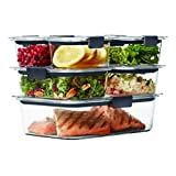Rubbermaid Brilliance - Recipiente de almacenamiento de alimentos, contenedor para almacenar comida, Transparente, Brilliance 14pc Set, 1