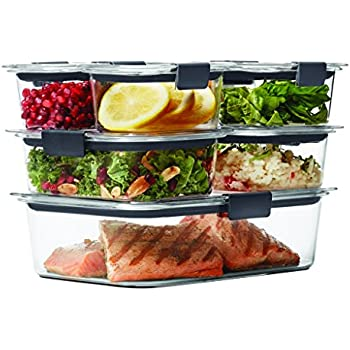 Amazoncom Rubbermaid Brilliance Food Storage Container 14 Piece