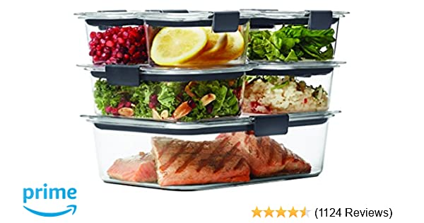 Rubbermaid Brilliance Food Storage Container 14 Piece Set 100
