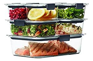 Rubbermaid Brilliance Food Storage Container, 100% Leak Proof, BPA-free Plastic, 14-piece Set