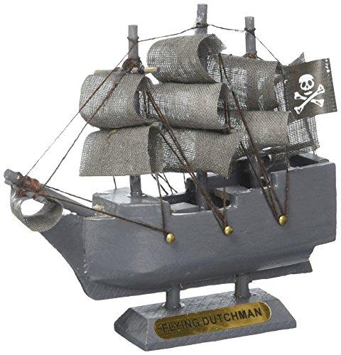 - Hampton Nautical Wooden Flying Dutchman Model Pirate Ship Christmas Ornament, 4