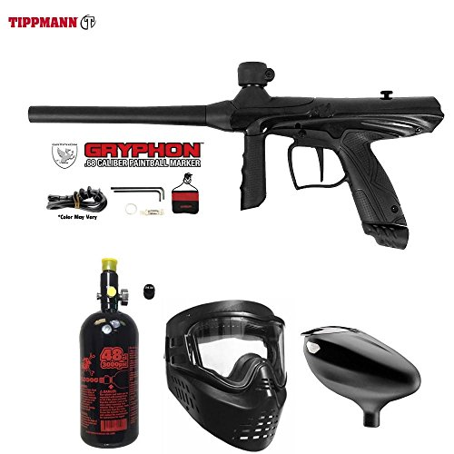 Cheap MAddog Tippmann Gryphon Beginner HPA Paintball Gun Package – Onyx Black