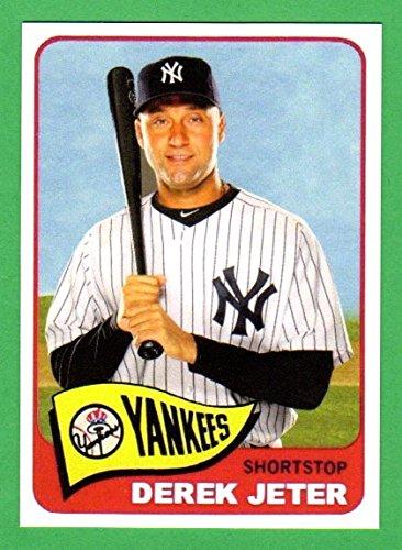 Derek Jeter 1965 Style Custom Baseball Card Bold Color Yankees