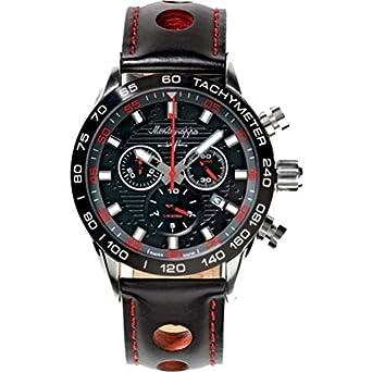 Uhr Armbanduhr Herren Jean 'Armband Schwarz aus Leder Montegrappa idjnwa00