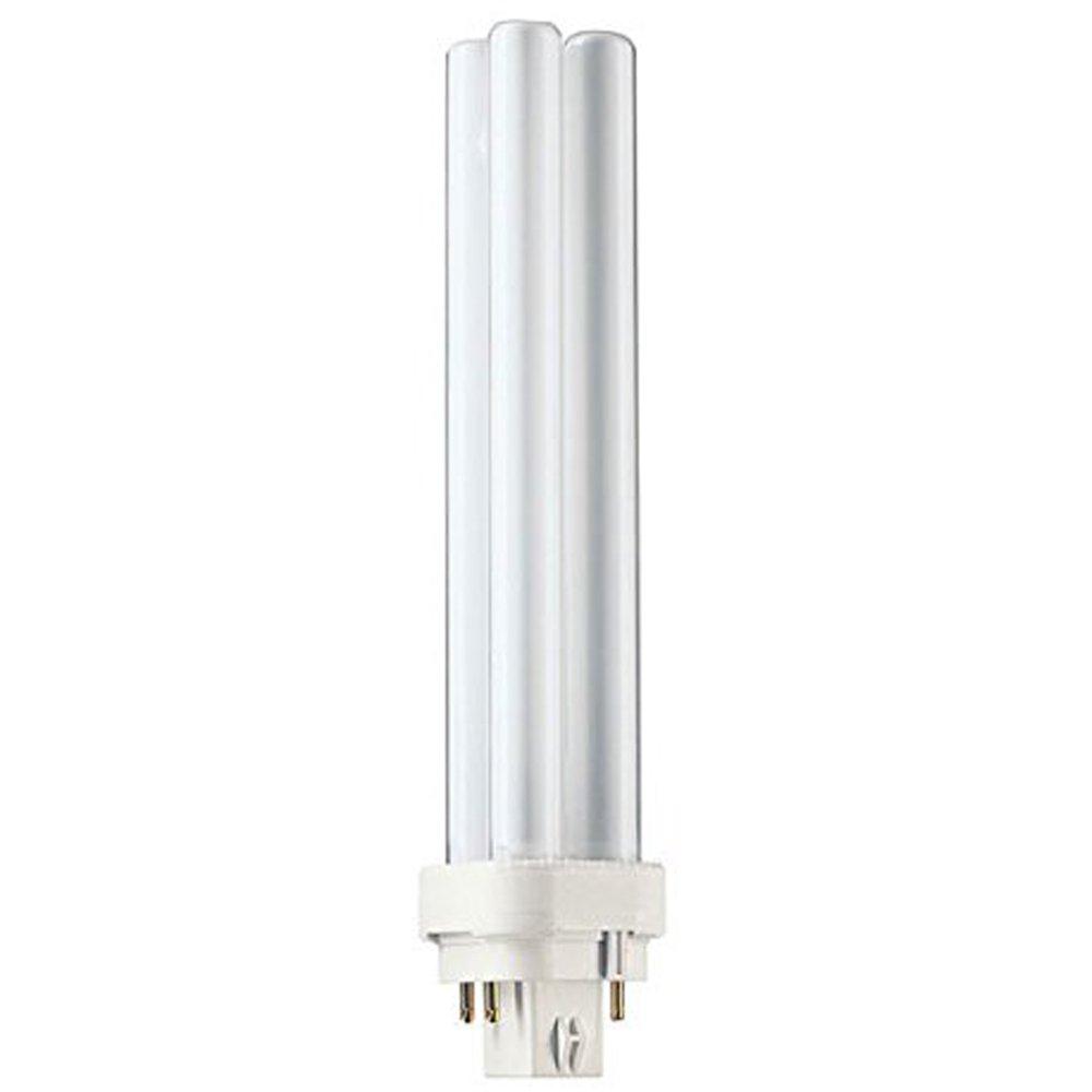 Globe Electric 84488 26-watt Enersaver Double Tube CFL Light Bulb with 4 Pin Base, Cool White, 6-Pack