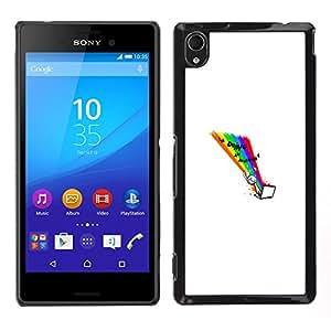 Sony Xperia M4 Aqua - Metal de aluminio y de plástico duro Caja del teléfono - Negro - Doing Internet - Funny Wtf Lol