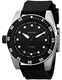 Men's EW0140030001 DW03 PU Band Analog Display Swiss Quartz Black Watch
