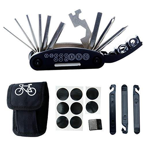 (Ants-Store - Bike Repair Tool Kits - 16 in 1 Multifunction Bicycle Mechanic Fix Tools Set Bag with Tire Patch Levers bicycle tools)