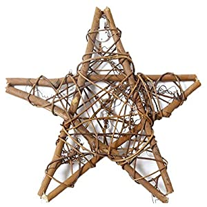 Amyzor Natural Grapevine Wreath Mesh Star Wreath DIY Craft Vines Base Grapevine Roll for Rustic Summer Fall Christmas Wreath Door Garland Home Wedding Party Decor Gift Hanging Decor Wreaths Supplies 4