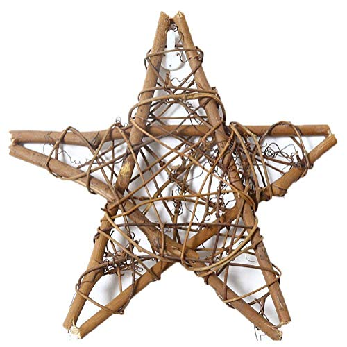 Amyzor Natural Grapevine Wreath Mesh Star Wreath DIY Craft Vines Base Grapevine Roll for Rustic Summer Fall Christmas Wreath Door Garland Home Wedding Party Decor Gift Hanging Decor Wreaths Supplies]()