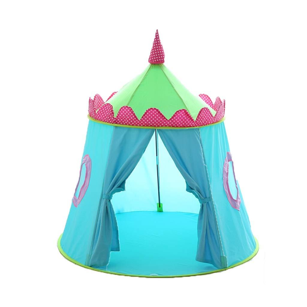 CHEXIAO 子供眠っているテント子供テント屋内の女の子プレイ家男の子のおもちゃプリンセスルームベビーキャッスル ( Color : ライトブルー ) B07Q34PFSF