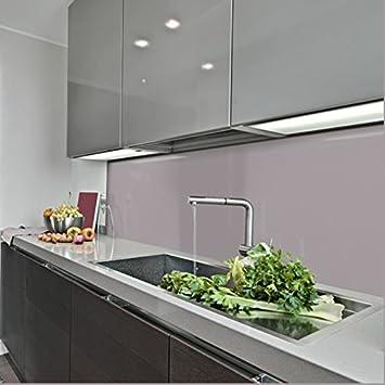 KeraBad Küchenrückwand Küchenspiegel Wandverkleidung Fliesenverkleidung  Fliesenspiegel Aus Aluverbund Küche Grau Glanz/matt 70x300cm