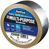 Nashua Aluminum Multi-Purpose Foil Tape, 3.2 mil Thick, 46 m Length, 48 mm Width
