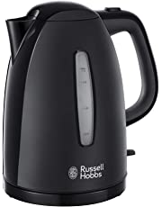 Russell Hobbs Textures Plastic Kettle 21271, 1.7 L, 3000 W - Black