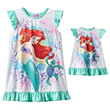 The Little Mermaid Ariel Dorm Nightgown & Doll Gown Set - Toddler Girl (4T)