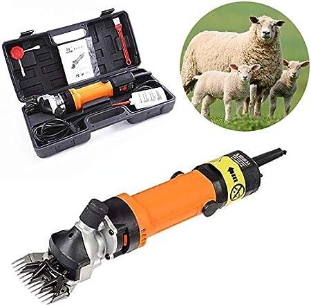 AIAIⓇ 350W Electric Shear Goat Scissor Machine Flexible Handle Sheep Hair Clipper Cutter Wool Scissors Clipper 220V CE (13 Curved Teeth)