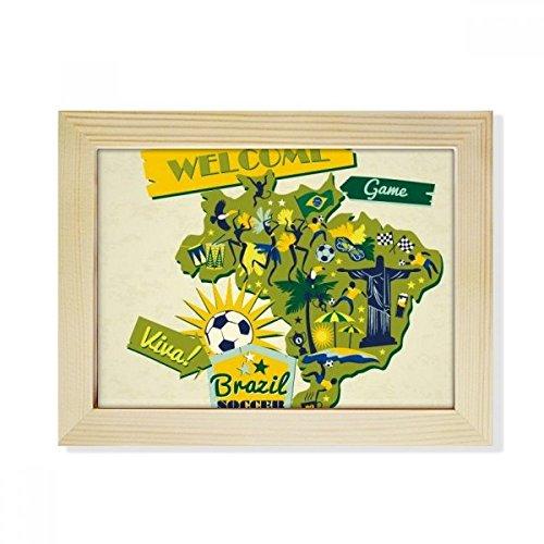 DIYthinker Welcom Brazil Summer Soccer Desktop Wooden Photo Frame Picture Art Painting 6x8 inch by DIYthinker
