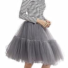 "Women's 50s Rockabilly Tutu Tulle Skirts 6 Layers Swing Petticoat ""Classic Lolita"""
