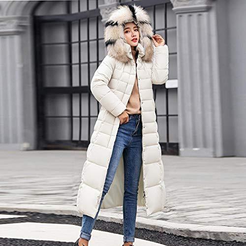 Amovible De Femmes Duvet Fausse Coorun Capuche Blousons Manteau En À Long Blanc Fourrure SxSqFYwvI