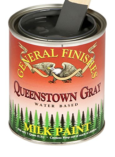 General Finishes QQG Milk Paint, 1 quart, Queenstown Gray by General Finishes