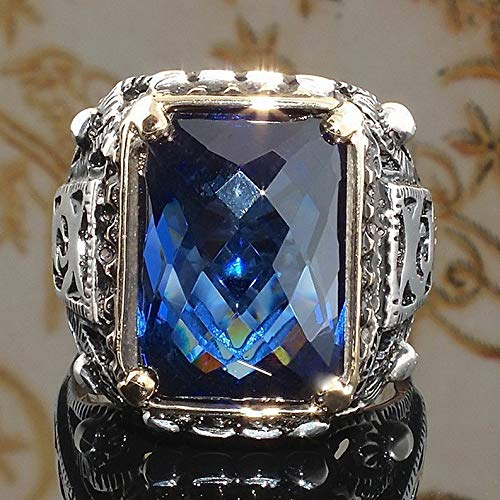 Endicot 925 Silver Sapphire Amethyst Gemstone Turquoise Fashion Gift Wedding Ring Sz6-10 | Model RNG - 18687 | 10 ()