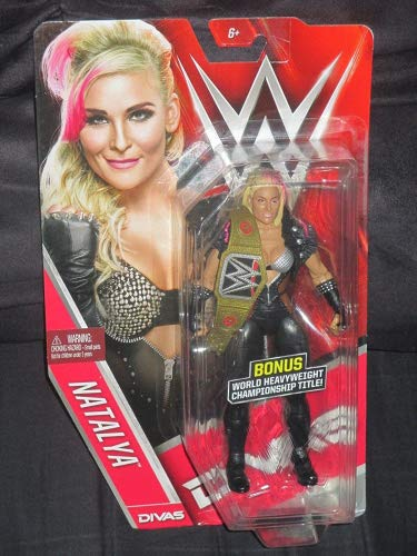 WWE Divas Edition Natalya Figure with Bonus Mini Replica World Heavyweight Championship Belt (Wwe Action Figures Vickie)