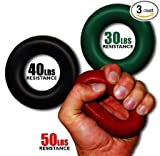 Grip Pro Trainer Hand Grip Forearm Strength Gripper 30, 40 & 50 lbs Full Set of All 3 Weights