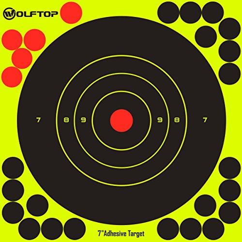 "Wolftop 7"" Bullseye Adhesive Splatter Targets 60 Pack - Reac"