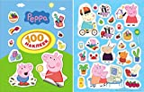 Peppa pig 4 sheets (100 stickers) sticker (7.8-5.5 inch) kids birthday party favor childrens presents boys and girls gift party CAKE TOPPER supplies table party treats