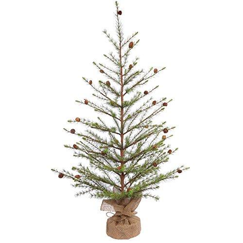 - Vickerman Unlit Missoula Pine Artificial Christmas Tree Artificial Pine Cones, 48
