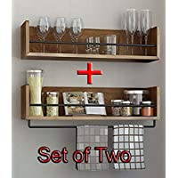 Dime Store Wall Mount Floating Wall Shelves Wall Shelf with Towel Holder