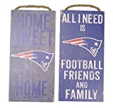 New England Patriots Wall decor. two Wood plaque set, Friends and family and home sweet home themes, 4