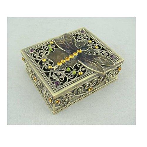 Amber Jeweled Dragonfly Jewelry Box (Dragonfly Jeweled Box)