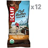 Clif Nut Butter Filled - Organic Energy Bar - Caramel Chocolate Peanut Butter - (1.76 Ounce Protein Snack Bar, 12 Count)
