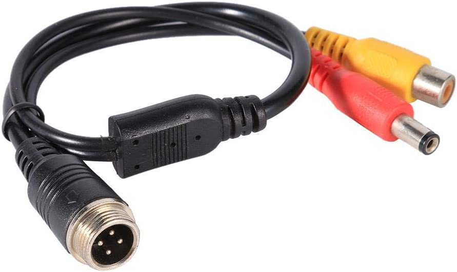 Cable Adaptador de Cable de extensi/ón de 4 Pines de aviaci/ón a RCA Macho DC Macho Talla /única A Asisuitable M16