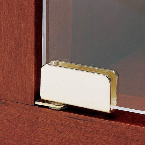 Chrome Hinges Cabinet (Glass Door Pivot Hinge for Free Swinging Glass Doors Polished Chrome (Pair))