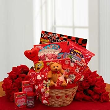 Image Unavailable. Image not available for. Color Valentines Day Gift Basket for Kids ... & Amazon.com : Valentines Day Gift Basket for Kids Children Boys and ...