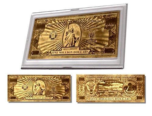 Gold Million Dollar Bill