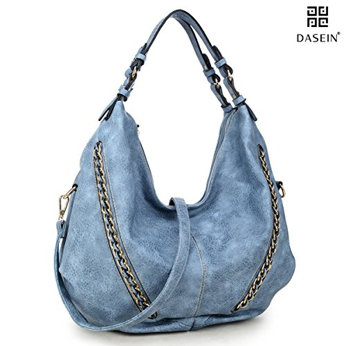 DASEIN Women Casual Hobo Shoulder Bag Soft Washed Vintage Handbags Designer Tote - Designer Cheap Warehouse