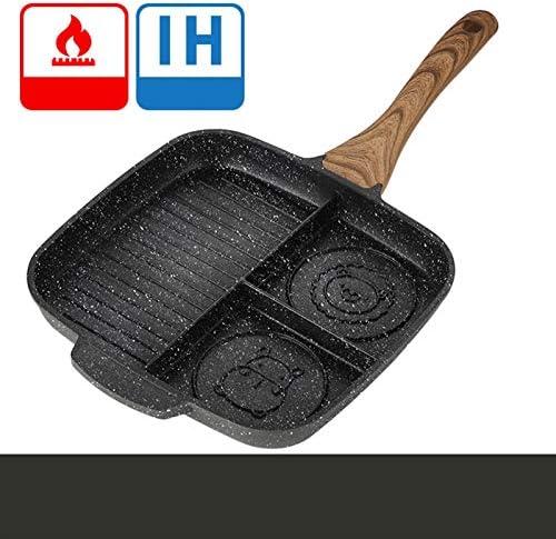 XZJJZ Multifonctionnel antiadhésif Poignée Simple médicale Stone, Creative Cartoon Grille Pan Steak Frying Pan, Convient for la Cuisine, la Maison, Bar Cuisinière Barbecue