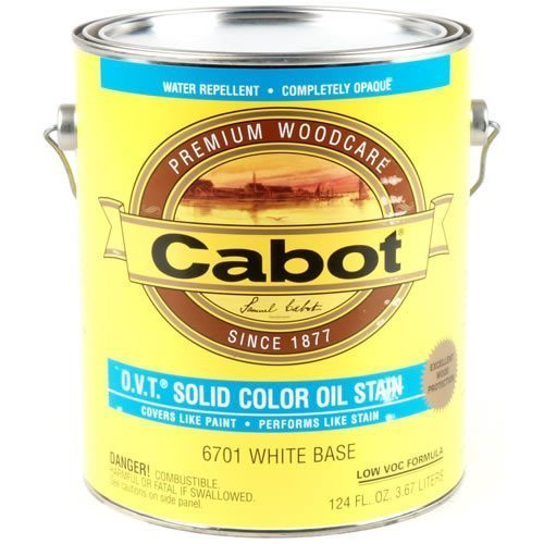 - CABOT SAMUEL 6701-07 Solid Color Oil Stain, White Tint Base Oil Stain